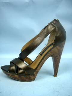 Steve Madden Tortise Shell Inspired Brown Leather Pump Size 6 1/2
