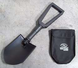 NEW   Black Folding Shovel / Entrenching Tool with Carry Pouch