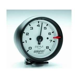 Auto Meter 2303 3 3/4IN WHITE FACE TACH  Automotive