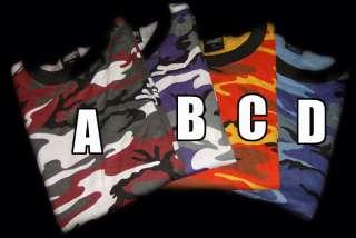 Camouflage COLORS Skater/Hip Hop Camo T Shirtemo.punk