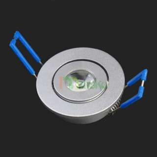 1W Cool White LED Recessed Ceiling Light DownLight Cabinet High Power