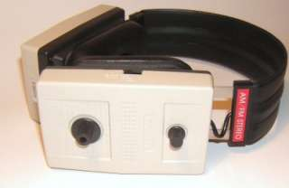 vintage TANDY AM/FM transistor radio HEADSET, HEADPHONES, boxed, retro