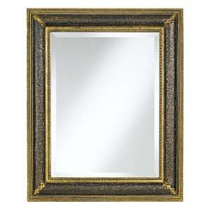 Distressed Black and Gold Finish 31 High Mirror