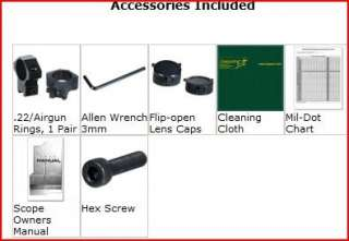 Leapers 3 9x40 MilDot Rifle Scope + Mounts 4712274527751