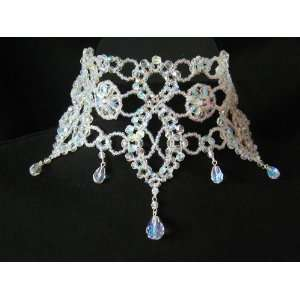 Bridal Wedding Prom Pageant Choker Necklace Crystal Jewelry Victorian