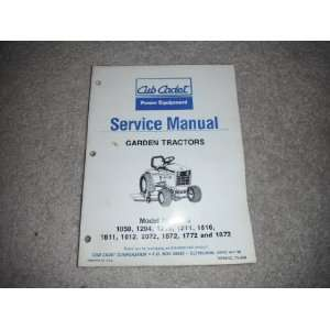 Cub Cadet Service Manual garden Tractors #772 3899 cub cadet
