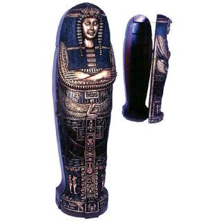 Egyptian Queen Sarcophagus Mummy Bookcase Cabinet 6F