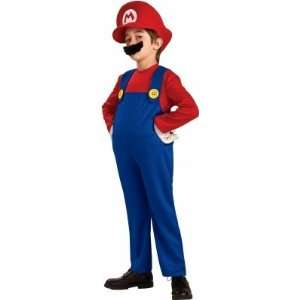 Rubies Costumes 186155 Super Mario Bros.  Mario Deluxe Toddler Child