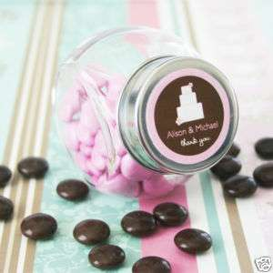 150 Candy Jar Wedding Favor Box FREE Personalized Label