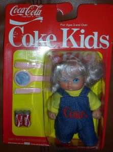 1986 BBI Toys Coca Cola Coke Kids w/Accessories NIP SEALED LOOK