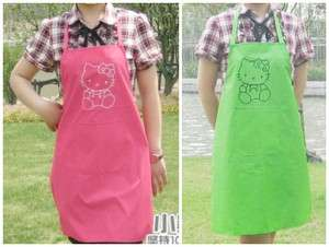 Cute Hello kitty Waterproof Aprons Women Girls Kitchen Party