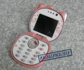 cute PINK F198 UNLOCKED QUAD BAND HELLO KITTY cell phone MOBILE PHONE
