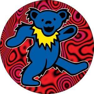THE GRATEFUL DEAD BLUE DANCING BEAR BUTTON: Home & Kitchen