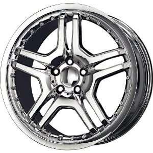 Alloys Replica AMG Twin Chrome Wheel (18x8/5x112mm) Automotive