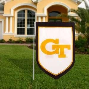 Georgia Tech Yellow Jackets White Black 11 x 16 Shield Garden Flag
