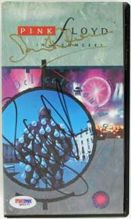 ROGER WATERS & DAVID GILMOUR AUTHENTIC SIGNED PINK FLOYD VHS PSA/DNA