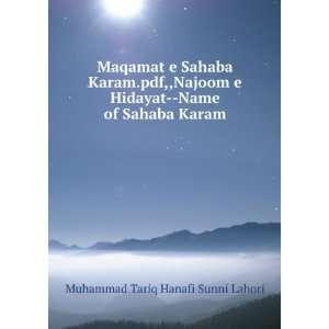 Maqamat e Sahaba Karam.pdf,,Najoom e Hidayat  Name of Sahaba
