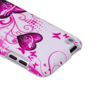 ECGADGETS Pink Heart Hard Case Cover For Apple iPod Touch