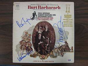 Robert Redford/Paul Newman/Katharine Ross Signed Album Cover (PSA/DNA