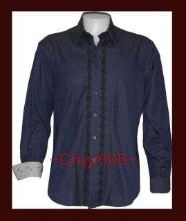 Robert Graham BURROUGHS (Sz Lg) Black Blue Embrd Shirt NWT