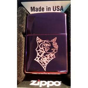 Zippo Custom Lighter   Tribal Celtic Cougar Feline CAT Tattoo