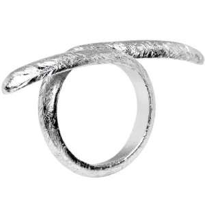 Silver Toned Artisan Point Adjustable Ring Jewelry
