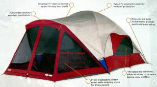 Kelty Ridgeway 8 Person Camping Cabin Camp Dome Tent