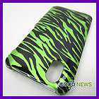 Boost Mobile LG Marquee LS855 Ignite Green Zebra Snap On Hard Case