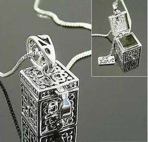 Women New Fashion Ancient Style Lovely Magic Box Necklace Pendant