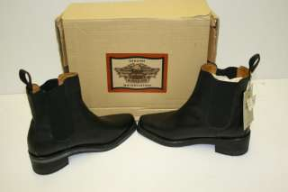 Womens Black Leather Harley Davidson Boots Size 8
