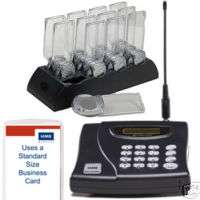 12 RESTAURANT PAGERS/GUEST PAGING SYSTEM w/AD PADDLE