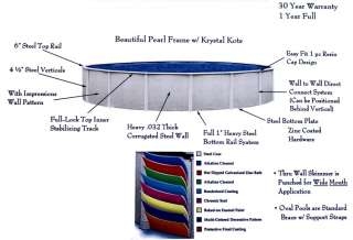Reprieve 15 x 52 Round Above Ground Metal Frame Swimming Pool