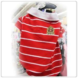 Pet Dog Clothing Cute Red Polo Shirt Small Size Pet