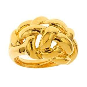 Kenneth Jay Lane   Gold Weave Dome Ring Jewelry