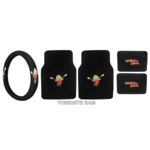 Rear Floor Mats and Steering Wheel Cover for Car Suv Truck Automotive