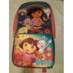 NICKELODEON DORA THE EXPLORER BACKPACK AND LUNCH BOX [SOFT