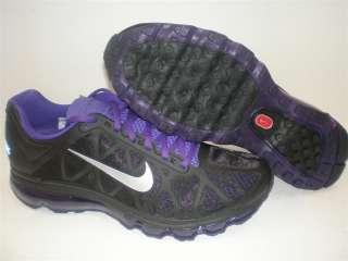NIB Mens Nike Air Max 2011 Black Metallic Grey Purple