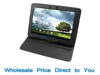 Folio Leather Case Cover Stand for ASUS Eee Pad Transformer Prime