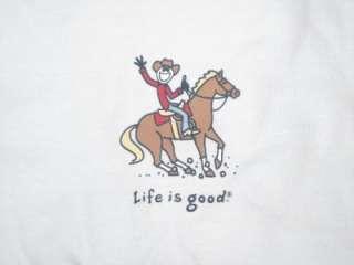 NWT Life Is good Horse Rider COWBOY JAKE Ride WOMEN Lg