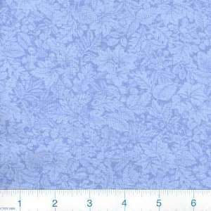 45 Wide Bountiful Harvest Leaves Light Blue Fabric By