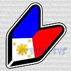 Philippine Flag Stickers Car Vinyl Decals JDM