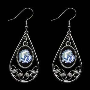 Drake Bulldogs Ladies Tear Drop Crystal Dangle Earrings Jewelry