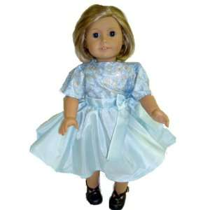 American Girl doll clothes Blue Party Dress Toys & Games