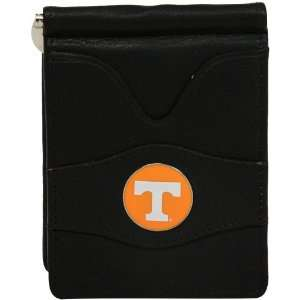 NCAA Tennessee Volunteers Black Leather Billfold Wallet
