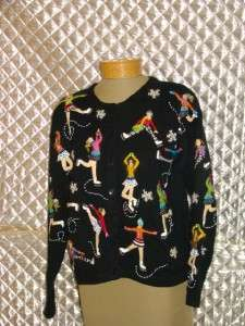 Design Options by Philip and Jane Gordon Multi Colored Dolls Cardigan