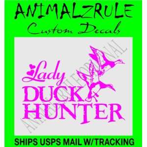 DUCK HUNTING GIRL DECAL