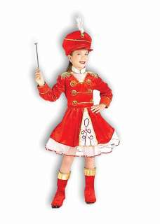 DRUM MAJORETTE BAND girls halloween dress costume M 8