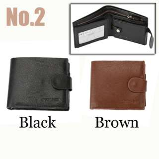 Mens Imitation Leather Wallet Cluth Purse ID Window Card Case Bag