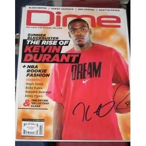 KEVIN DURANT Oklahoma City Thunder SIGNED Dime Magazine JSA Aug Sept