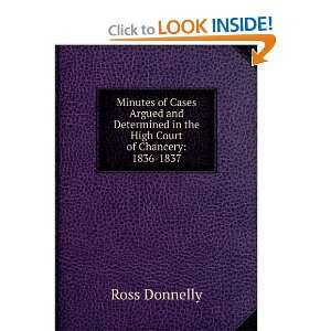 in the High Court of Chancery 1836 1837 Ross Donnelly Books